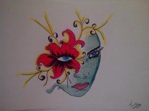 portrait fleurie