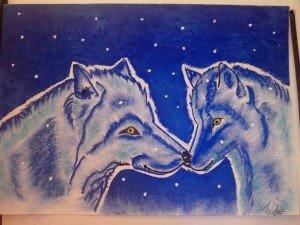 bébé et maman loup